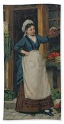 The Fruit Seller Beach Towel by Victor Gabriel Gilbert