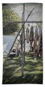 The Fur Trader's Camp 1812 Beach Towel