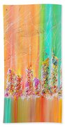The Future City Abstract Painting  Beach Towel by Julia Apostolova