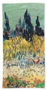 The Garden At Arles  Beach Towel by Vincent Van Gogh