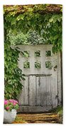The Garden Door - V Beach Towel