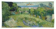 The Garden Of Daubigny Beach Towel