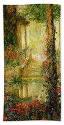 The Garden Of Enchantment Beach Towel by Thomas Edwin Mostyn