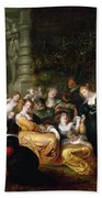 The Garden Of Love Beach Towel by Peter Paul Rubens