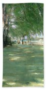 The Garden Of The Artist In Wannsee Beach Towel