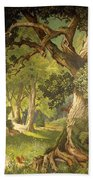The Garden Of The Magician Klingsor, From The Parzival Cycle, Great Music Room Beach Towel