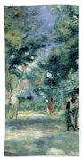 The Gardens In Montmartre Beach Towel by Pierre Auguste Renoir