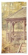 The Gazebo In The Woods Beach Towel by Lisa Russo