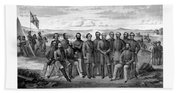 The Generals Of The Confederate Army Beach Towel