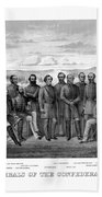 The Generals Of The Confederate Army Beach Sheet