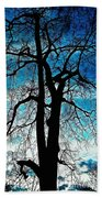 The Ghostly Tree Beach Towel