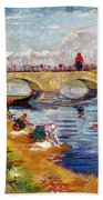 The Gleize Bridge Over The Vigneyret Canal  Beach Towel