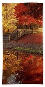 The Glory Of Autumn Beach Towel