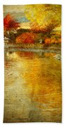 The Golden Dreams Of Autumn Beach Towel