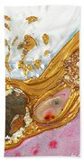 The Golden Flow Of Love And Determination Beach Towel