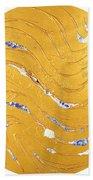 The Golden Flow Of Peace Beach Towel