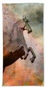 The Golden Horse Beach Towel by Issabild -