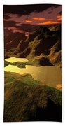 The Golden Lake Beach Towel