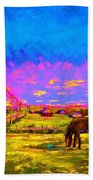 The Golden Meadow Beach Towel