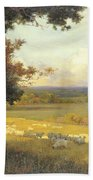 The Golden Valley Beach Towel by Sir Alfred East