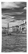 The Grand Canal - Paint Bw Beach Towel
