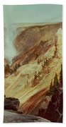 The Grand Canyon Of The Yellowstone Beach Towel by Thomas Moran