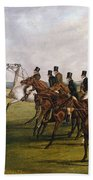 The Grand Leicestershire Steeplechase, March 12, 1829  The Start Beach Towel