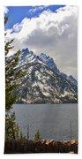The Grand Tetons And The Lake Beach Towel
