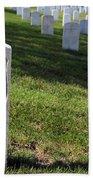 The Grave Of Martha B. Ellingsen In Arlington's Nurses Section Beach Towel