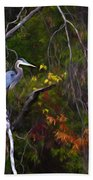 The Great Blue Heron Beach Towel