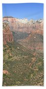 The Great Canyon Of Zion Beach Towel