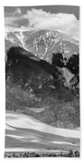 The Great Sand Dune Valley Bw Beach Towel