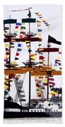 The Great Ship Gasparilla Beach Towel