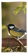 The Great Tit   Beach Towel