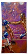 the Greatest  Muhammed Ali vs Jack Johnson Beach Towel