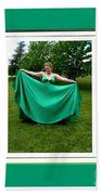 The Green Dress Beach Towel