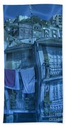 The Groggy Blue House Beach Towel by Heiko Koehrer-Wagner