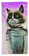 The Grumpy Cat From The Internets Beach Towel