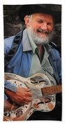 The Guitar Player Beach Towel