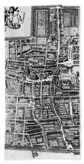 The Hague: Map, C1650 Beach Towel