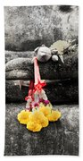 The Hand Of Buddha Beach Towel by Adrian Evans