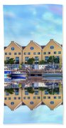 The Harbor At Galway Beach Towel