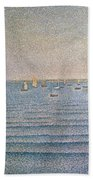 The Harbour At Portrieux Beach Towel