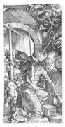 The Harrowing Of Hell Or Christ In Limbo From The Large Passion 1510 Beach Towel