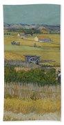 The Harvest Arles  June 1888 Vincent Van Gogh 1853  1890 Beach Towel