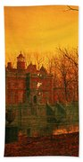 The Haunted House Beach Towel