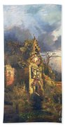 The Haunted House Beach Towel by Thomas Moran
