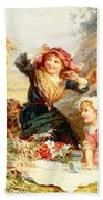 The Haymakers Beach Towel by Frederick Morgan