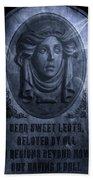 The Headstone Of Madame Leota Beach Towel