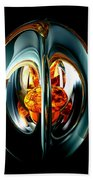 The Heart Of Chaos Abstract Beach Towel